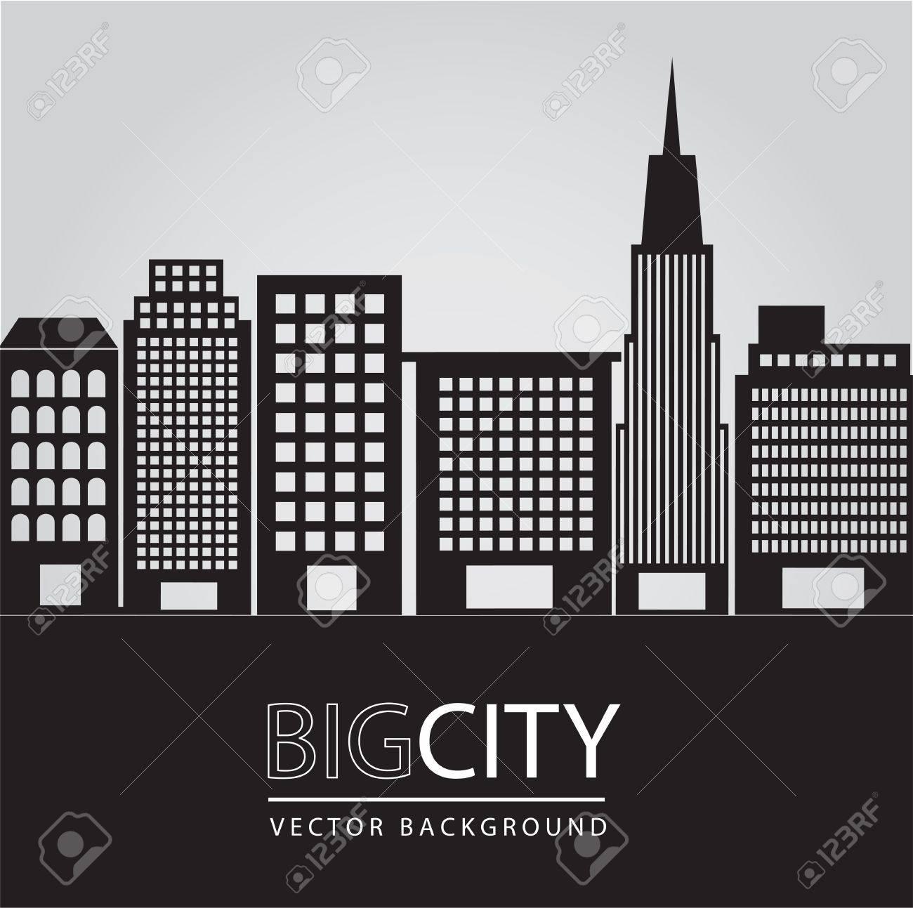 Big city illustration, conceptual image, vector illustration Stock Vector - 14375113
