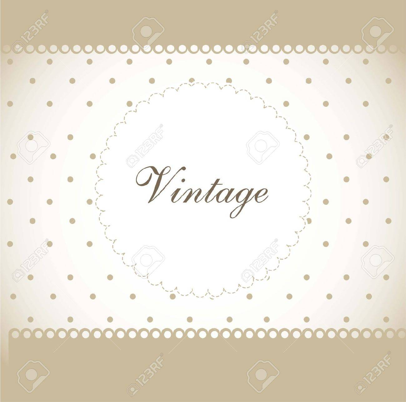 vintage with dots and space for copy. vector illustration Stock Vector - 14374923