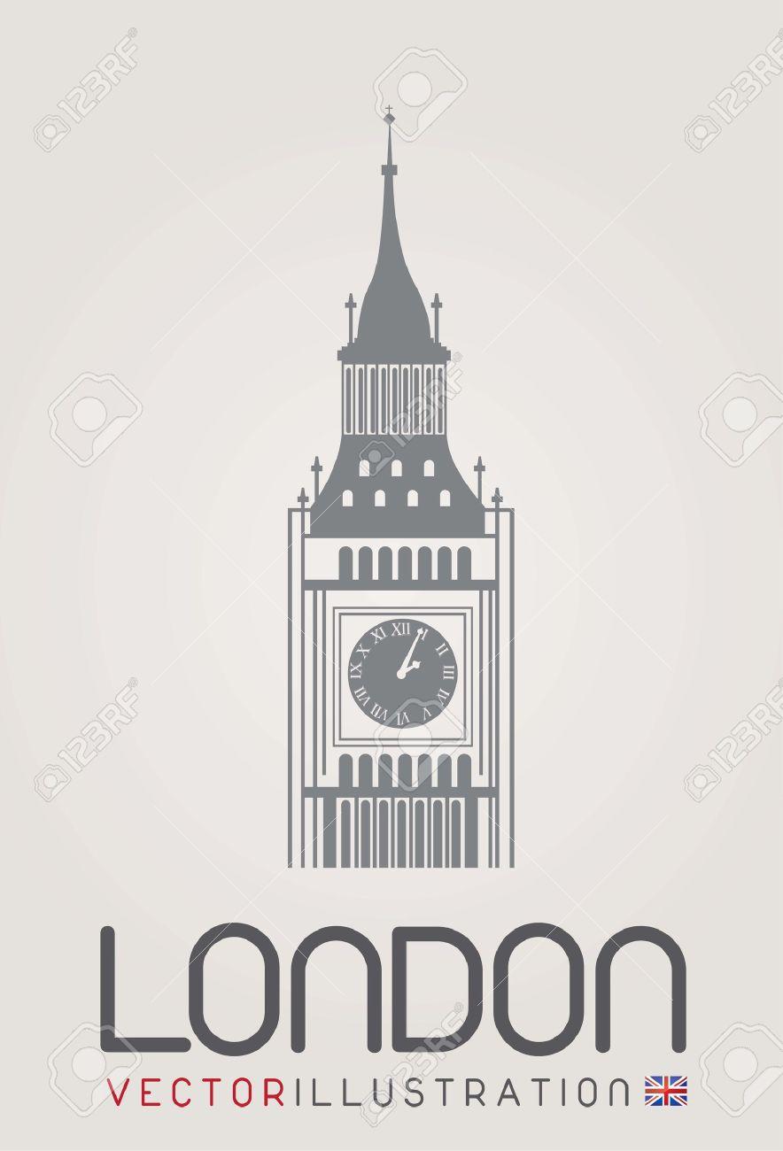 ロンドンの時計台のイラスト素材ベクタ Image 14654901