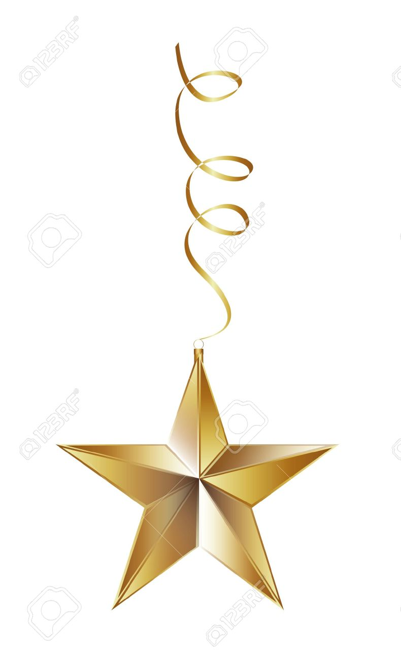 christmas star isolated over white background. vector illustration Stock Vector - 14751794