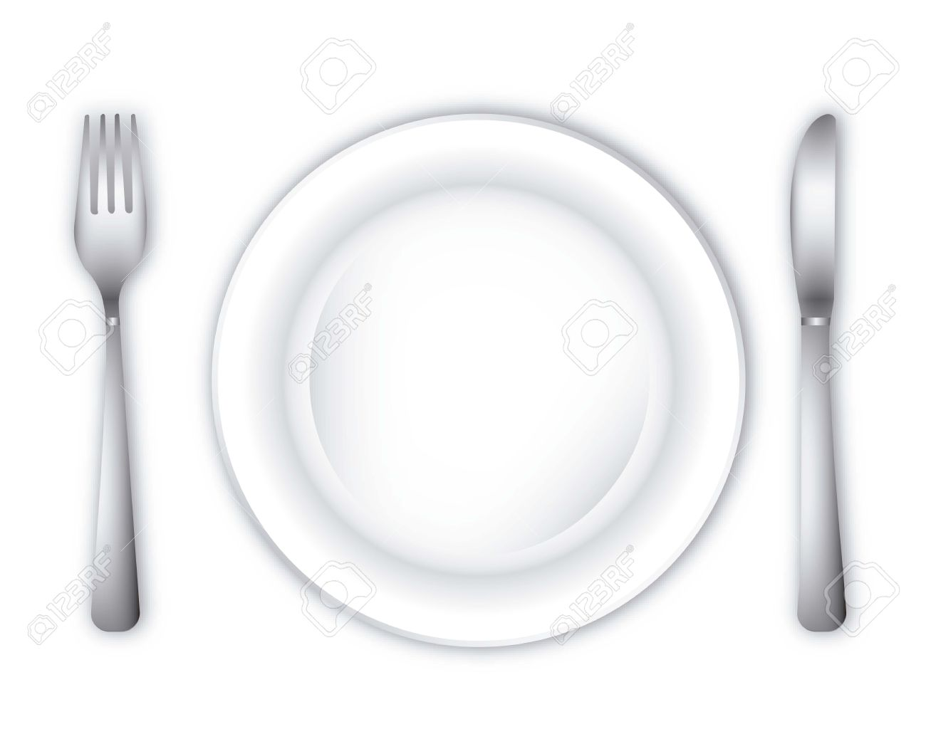 Empty Dinner Plate Over White Background Vector Illustration Royalty Free Cliparts Vectors And Stock Illustration Image 14944664