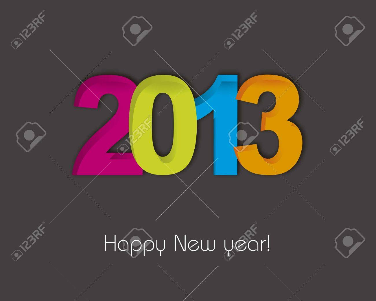 2013 new year over gray background illustration Stock Vector - 15068003