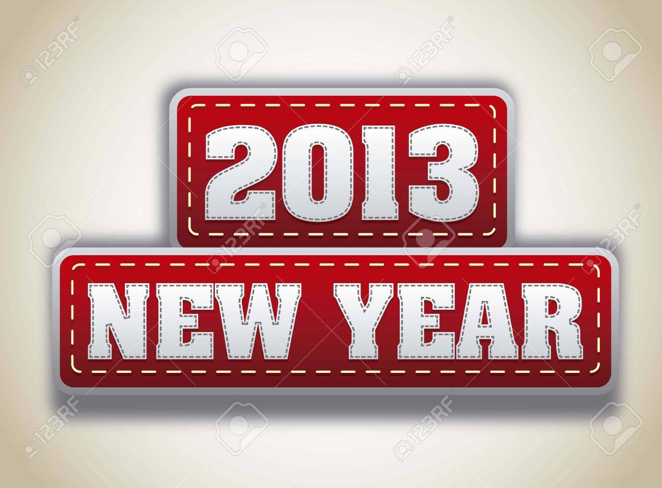 2013 year over red tags over vintage background. vector illlustration Stock Vector - 15136052