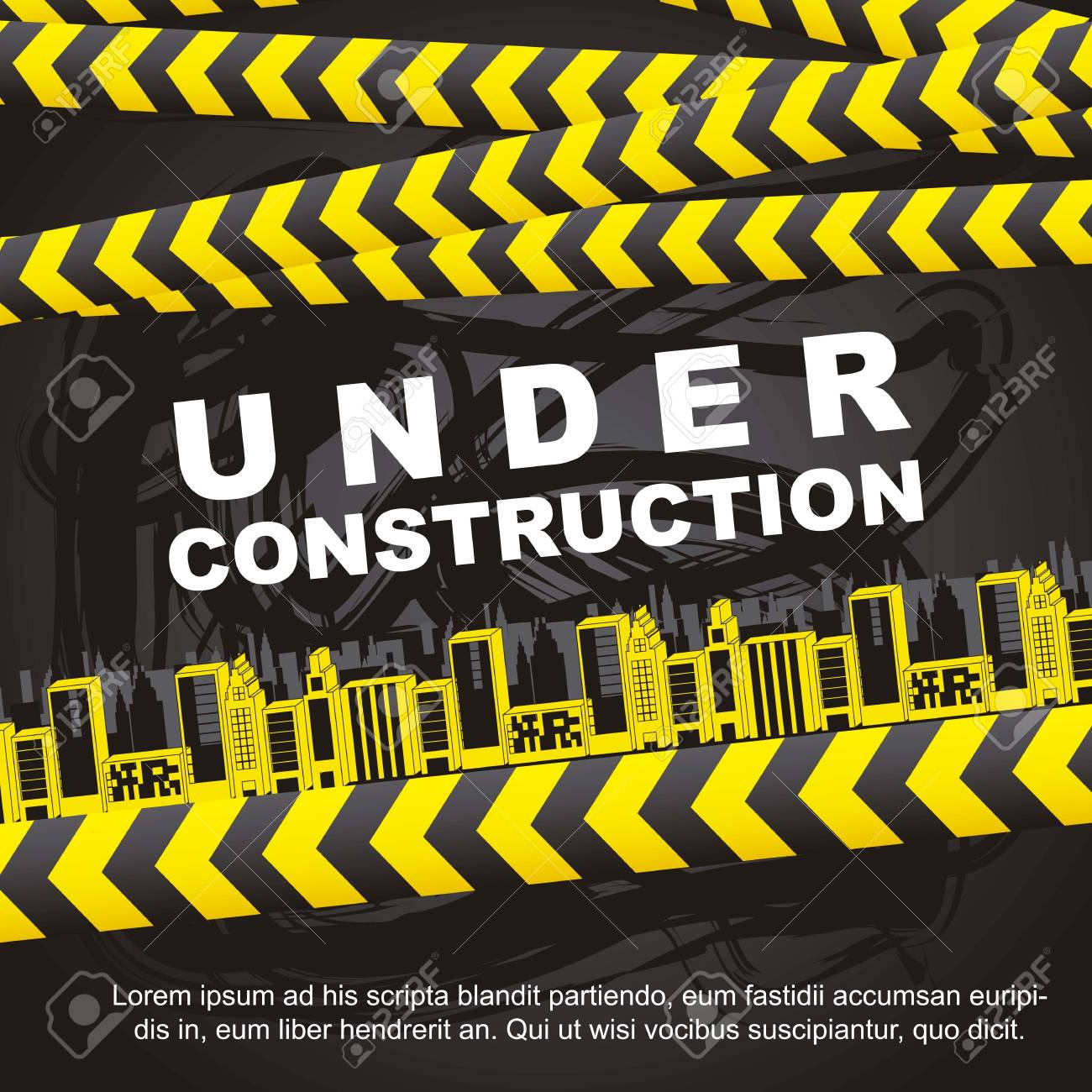 under construction background with buildings Stock Vector - 15285805