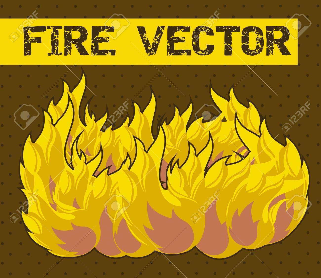fire cartoon over brown background. vector illustration Stock Vector - 15540156