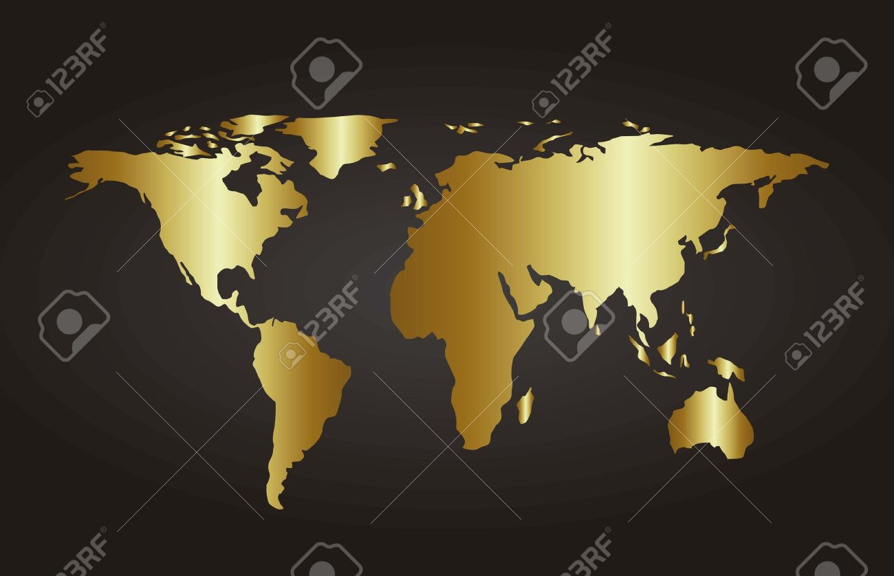 Gold map over black background vector illustration royalty free gold map over black background vector illustration stock vector 15540026 gumiabroncs Gallery