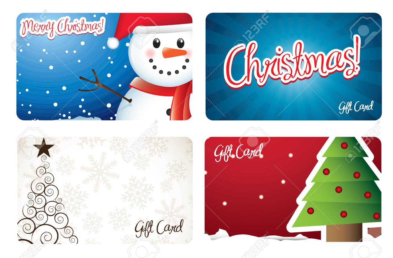 Christmas cards with tree and snowman Stock Vector - 15667143