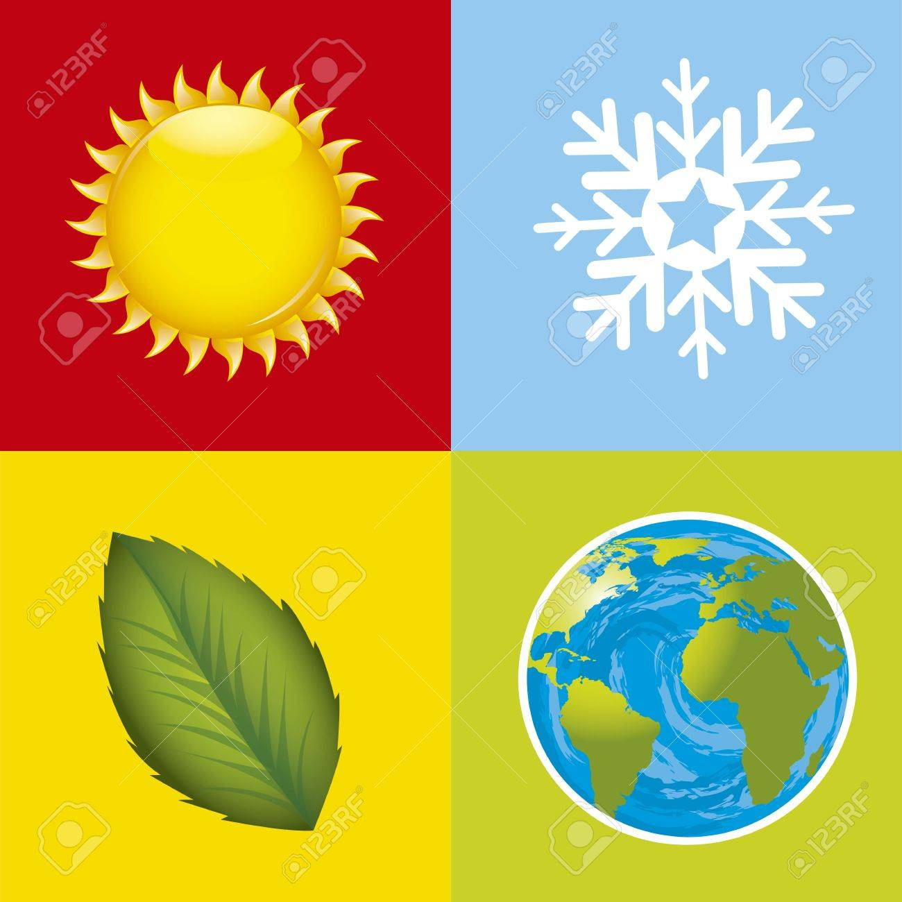 colorful weather stations icons. Stock Vector - 15787605