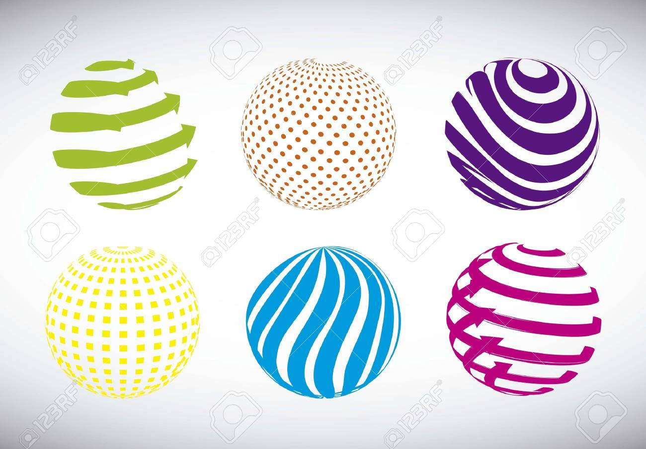 colorful abstract sphere over gray background. vector illustration Stock Vector - 15888722