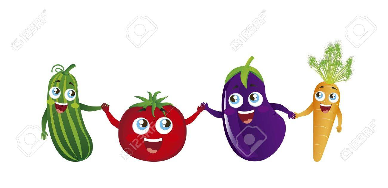 cute vegetables  over white background. vector illustration Stock Vector - 16123956
