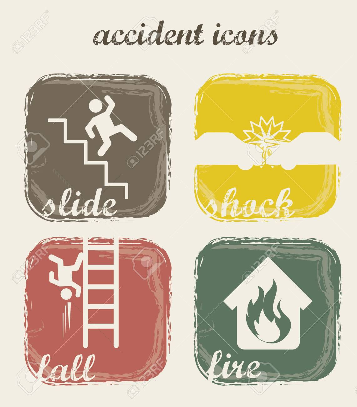 accident icons over beige background. vector illustration Stock Vector - 16703116