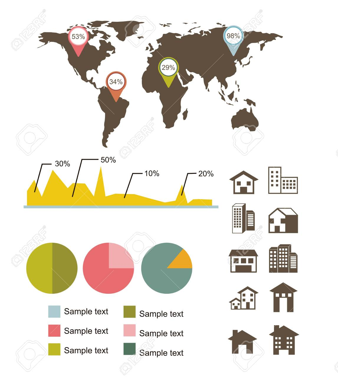 infographics of  houses over white background. vector illustration Stock Vector - 16701857