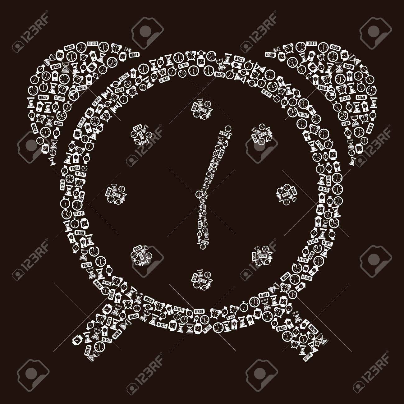 clock icons over black background. vector illustration Stock Vector - 16997736