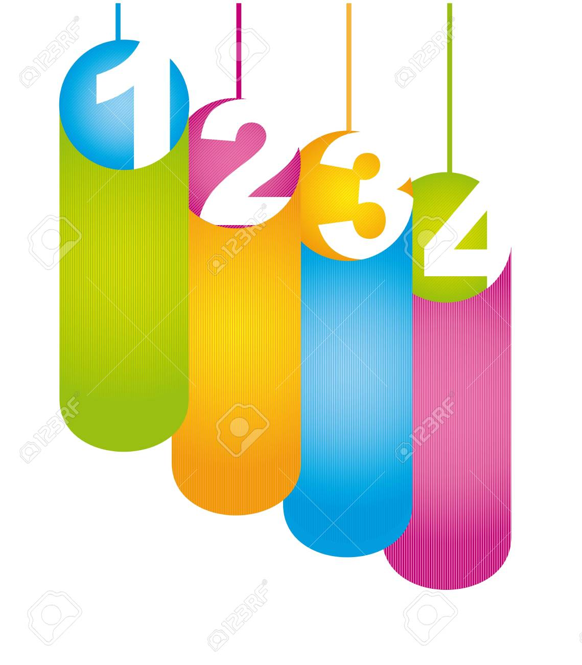 labels with numbers over white background. vector illustration Stock Vector - 16997330