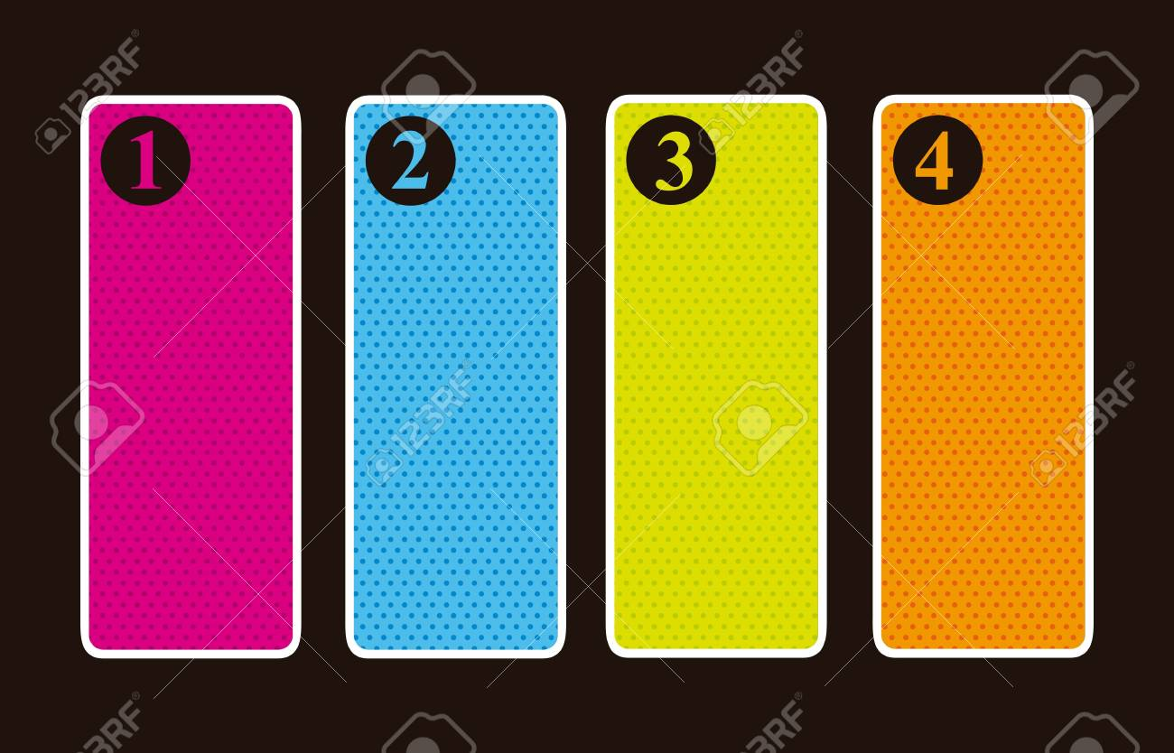 labels with numbers over black background. vector illustration Stock Vector - 16997531