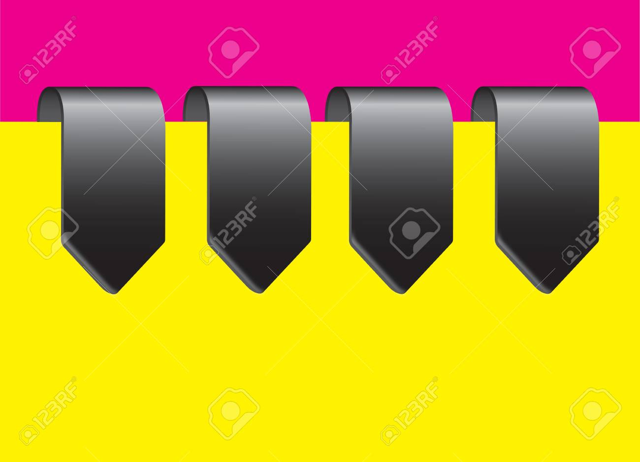 Yellow, chrome and purple labels vector illustration Stock Vector - 17349386
