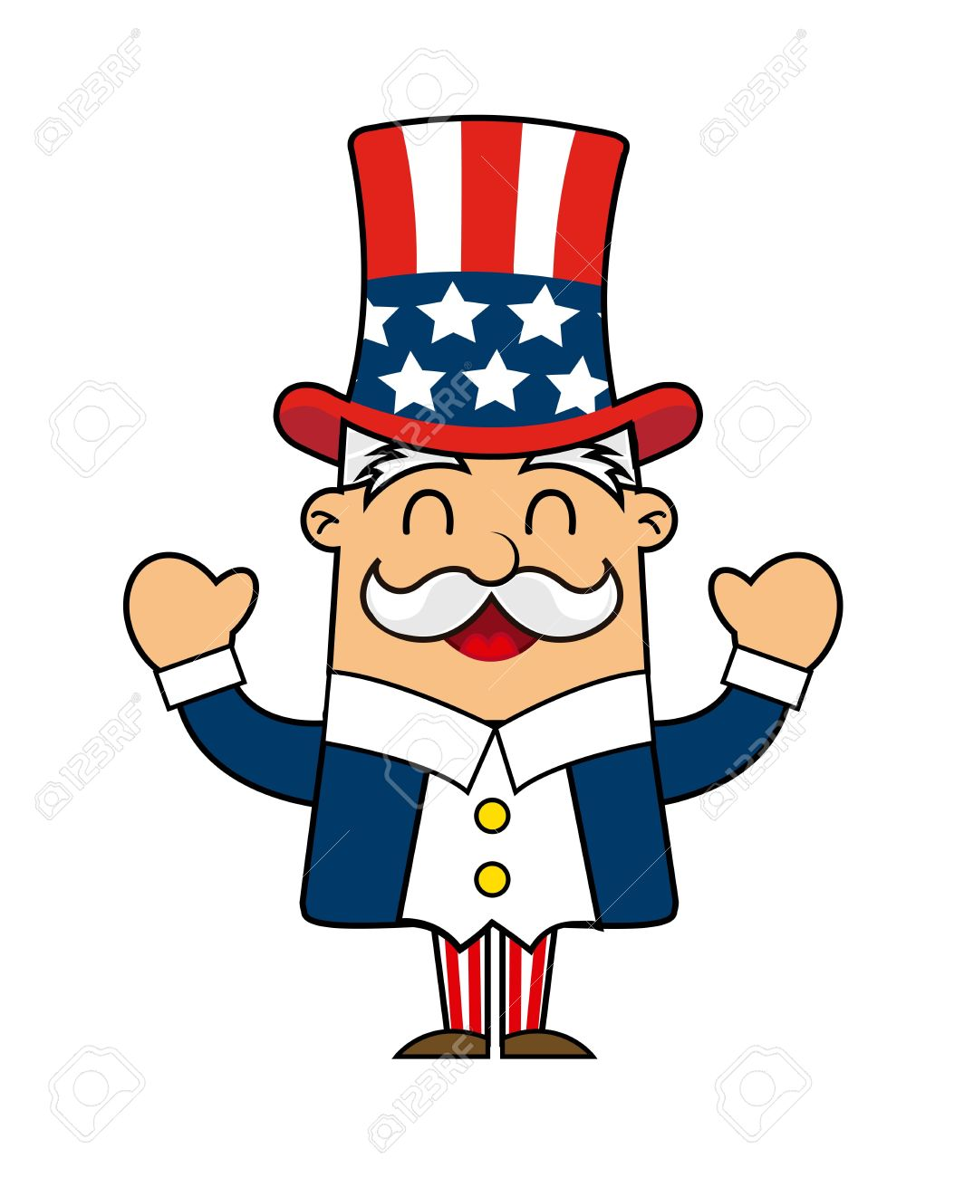uncle sam cartoon isolated over white background vector royalty rh 123rf com uncle sam vector download uncle sam vector free download