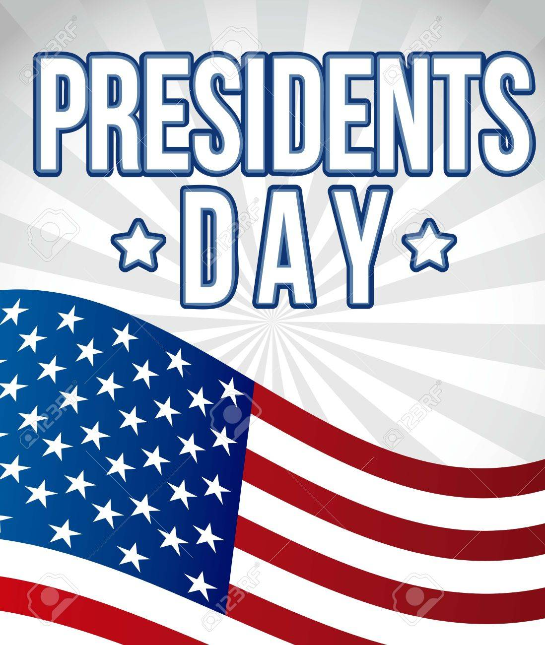 presidents day background flag united states vector illustration
