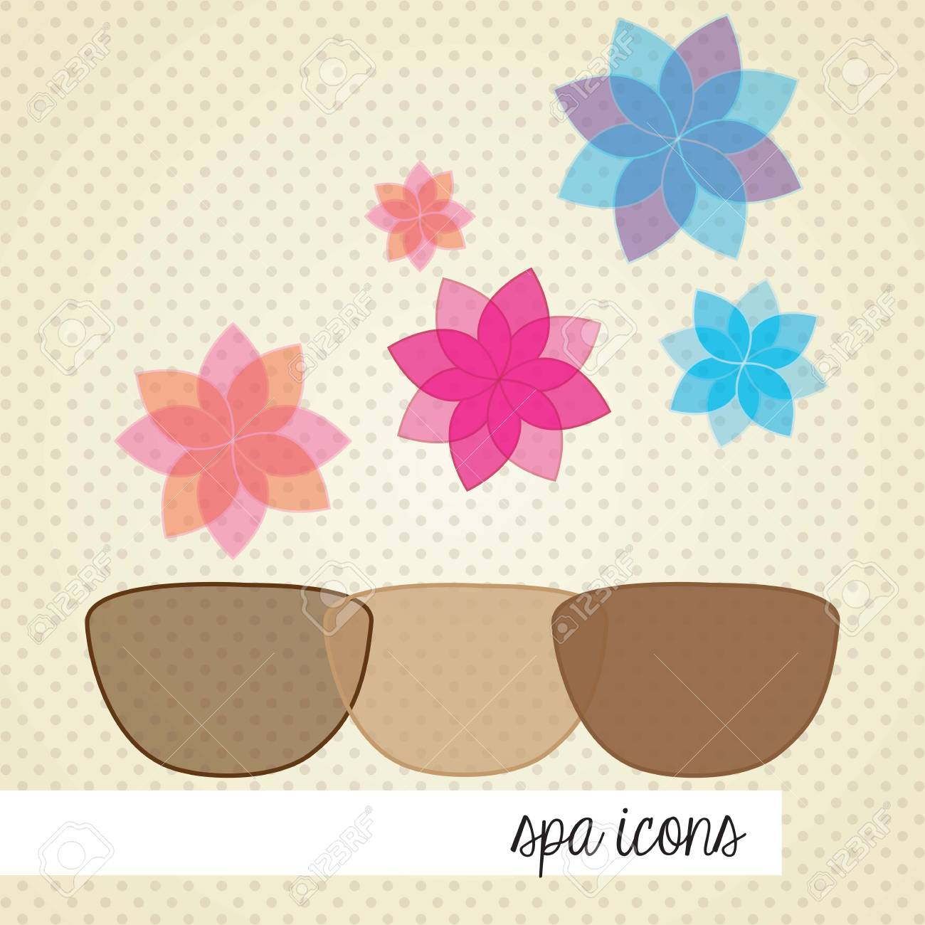 spa icons over light background vector illustration Stock Vector - 17349452