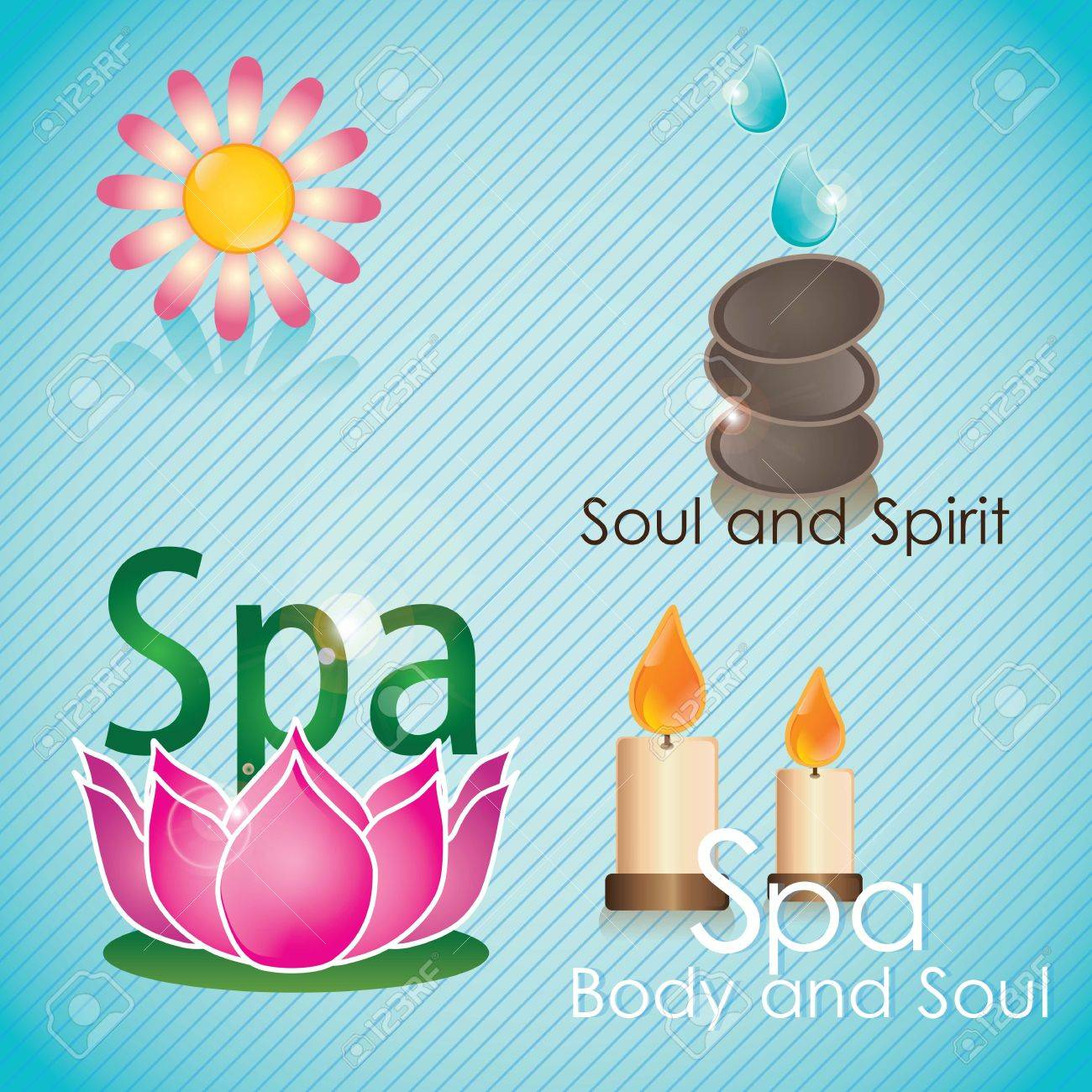 spa icons over light background vector illustration Stock Vector - 17349523