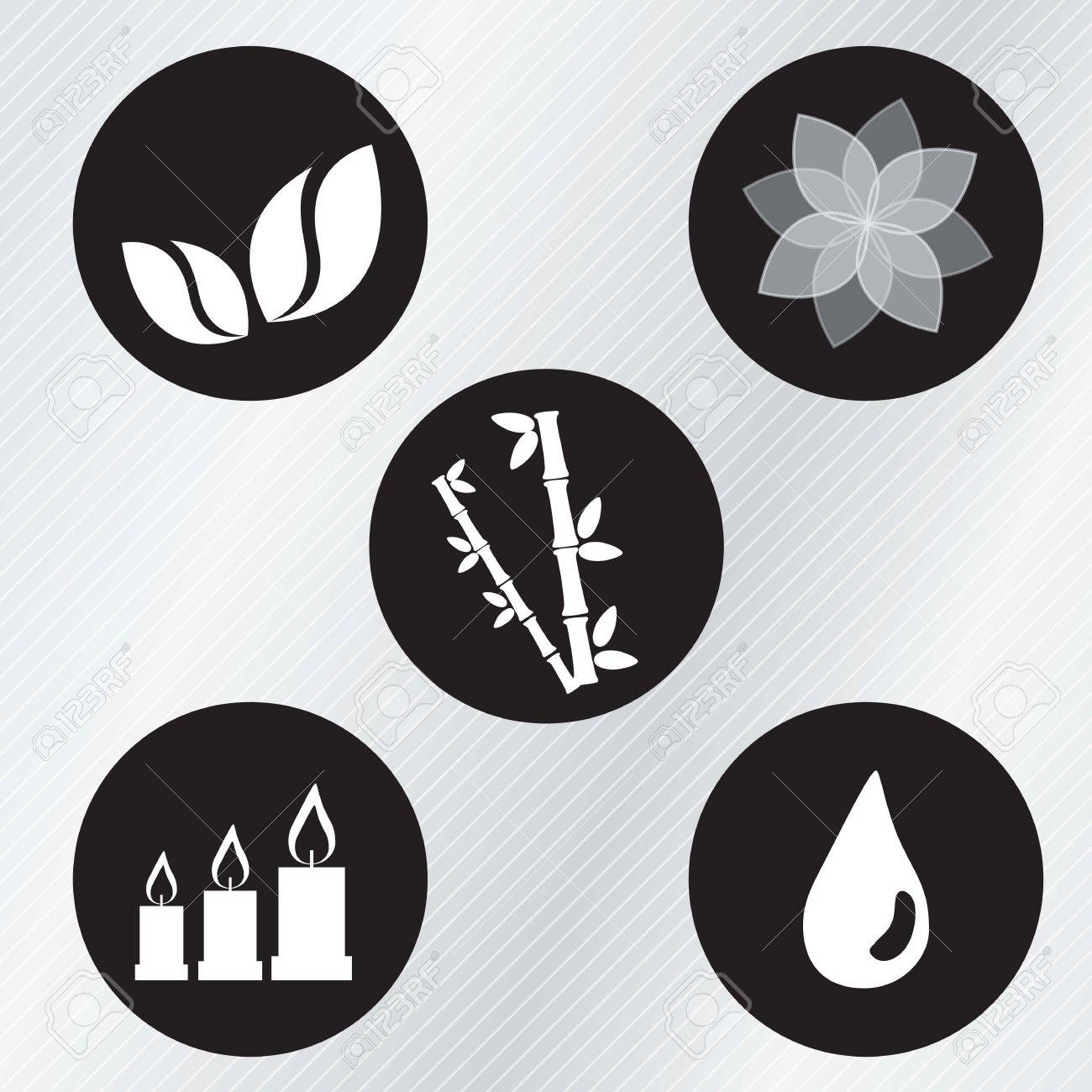 spa icons over light background vector illustration Stock Vector - 17349177