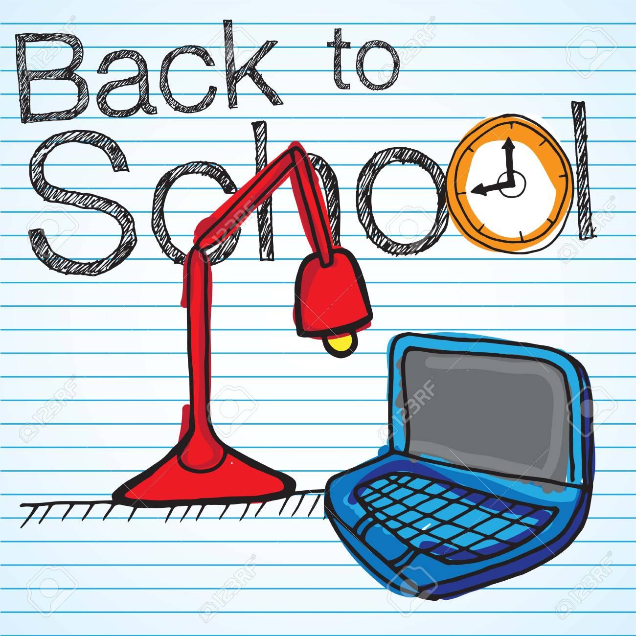 desktop items. Back to school icons. Vector illustration Stock Vector - 17350744