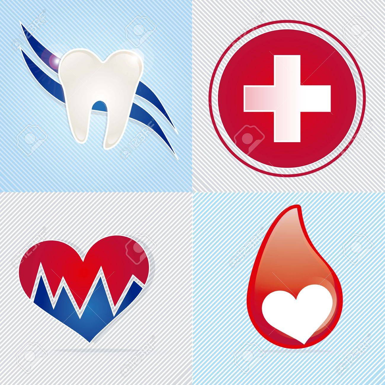 Medical icons over white background vector illustration Stock Vector - 17351930