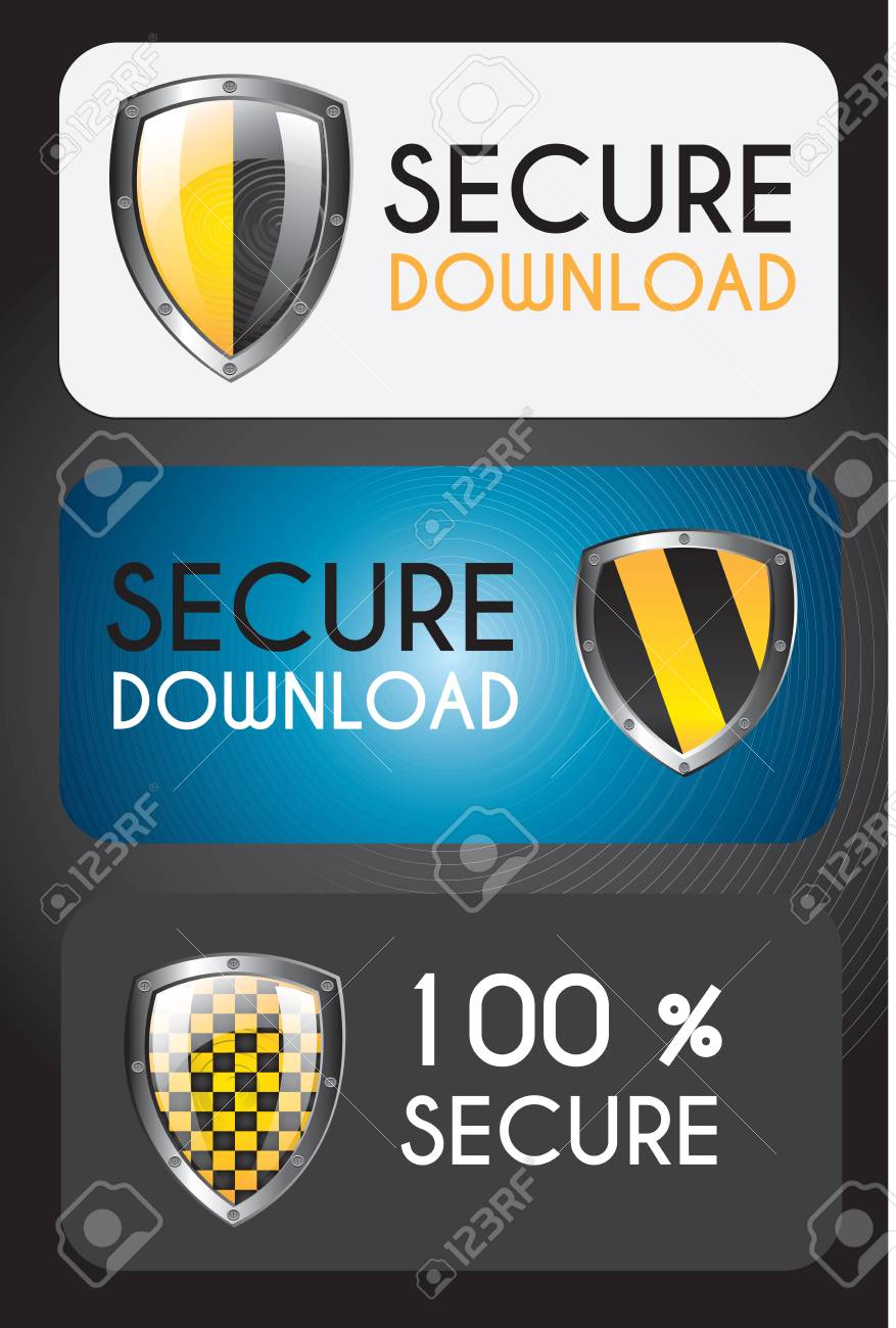 Secure icons over black background vector illustration Stock Vector - 17427826