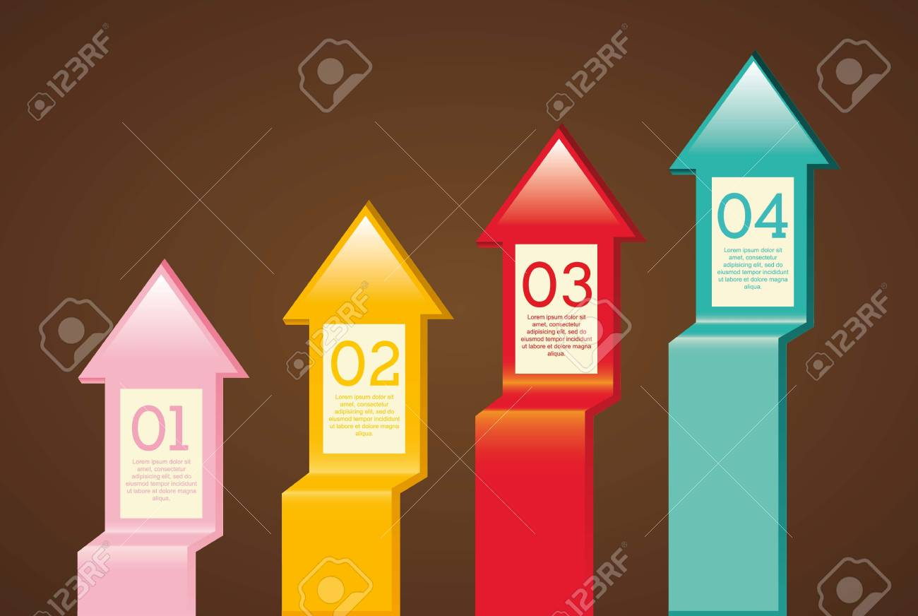 arrows infographics over brown background. vector illustration Stock Vector - 17564591