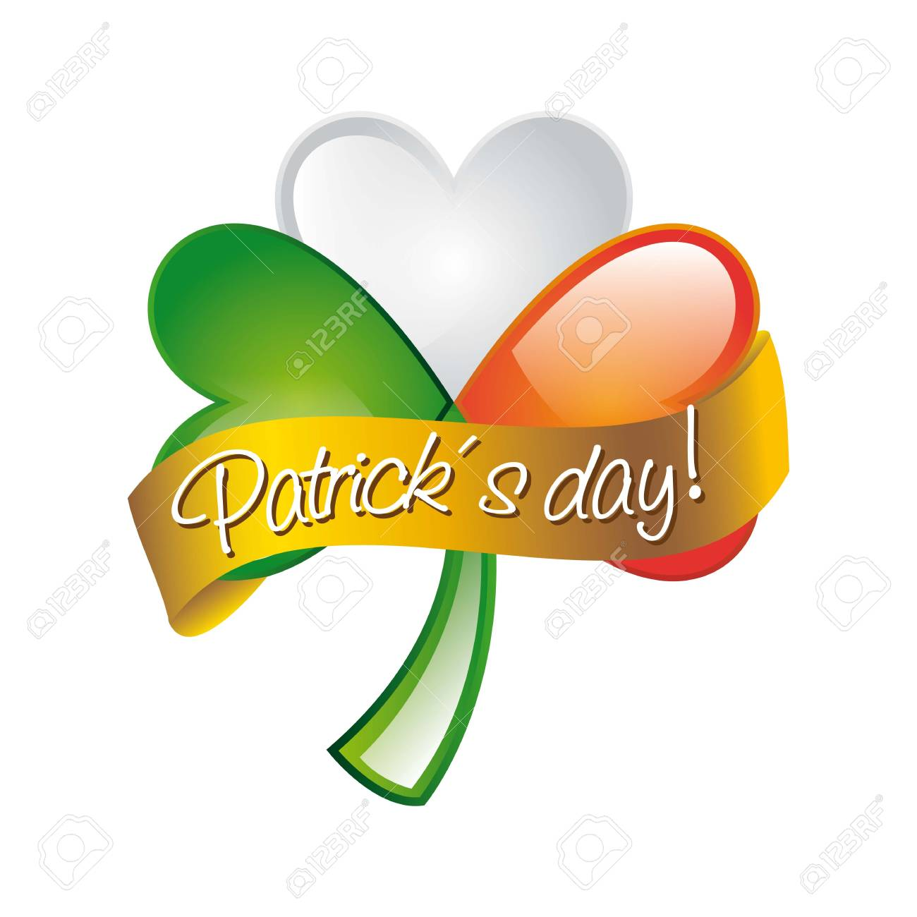 patrick�s day illustration with clover. vector illustration Stock Vector - 17564761