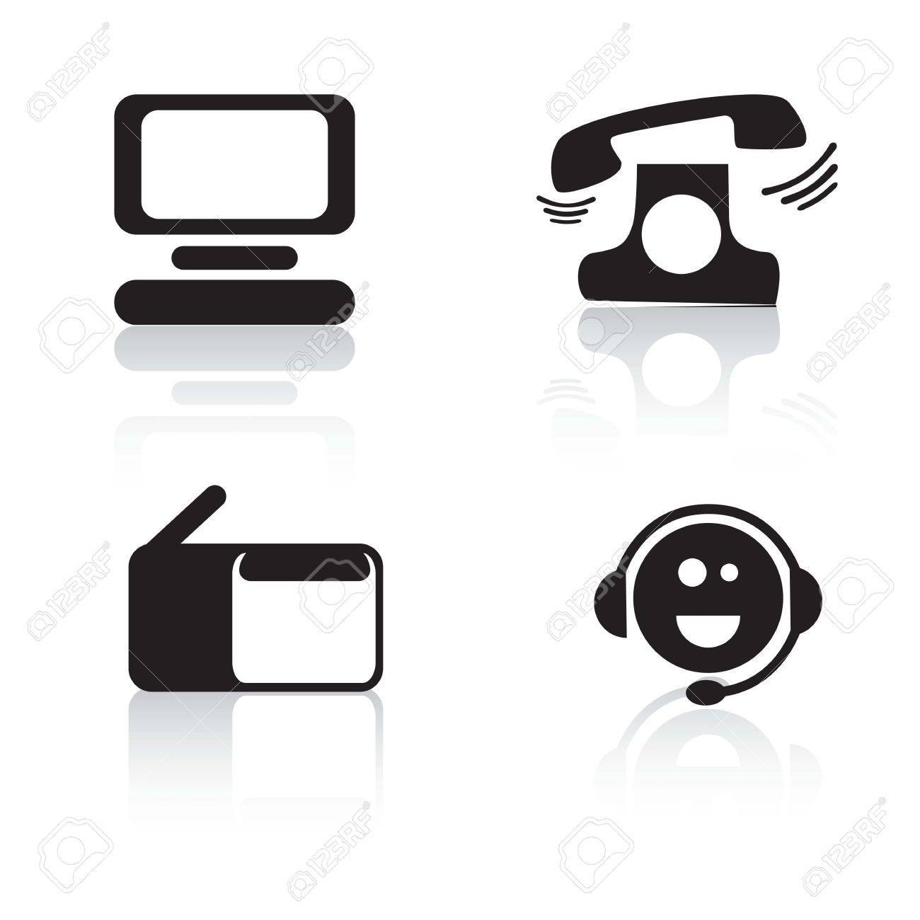 Customer Service Icons Of Silhouettes (colletion 2).Vector ...