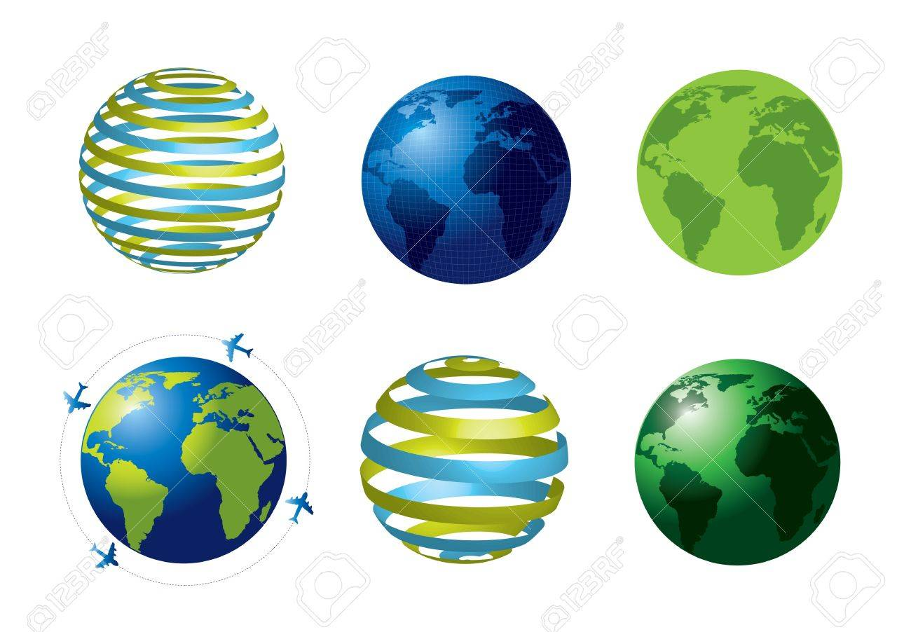 World icons over white background vector illustration Stock Vector - 17734529