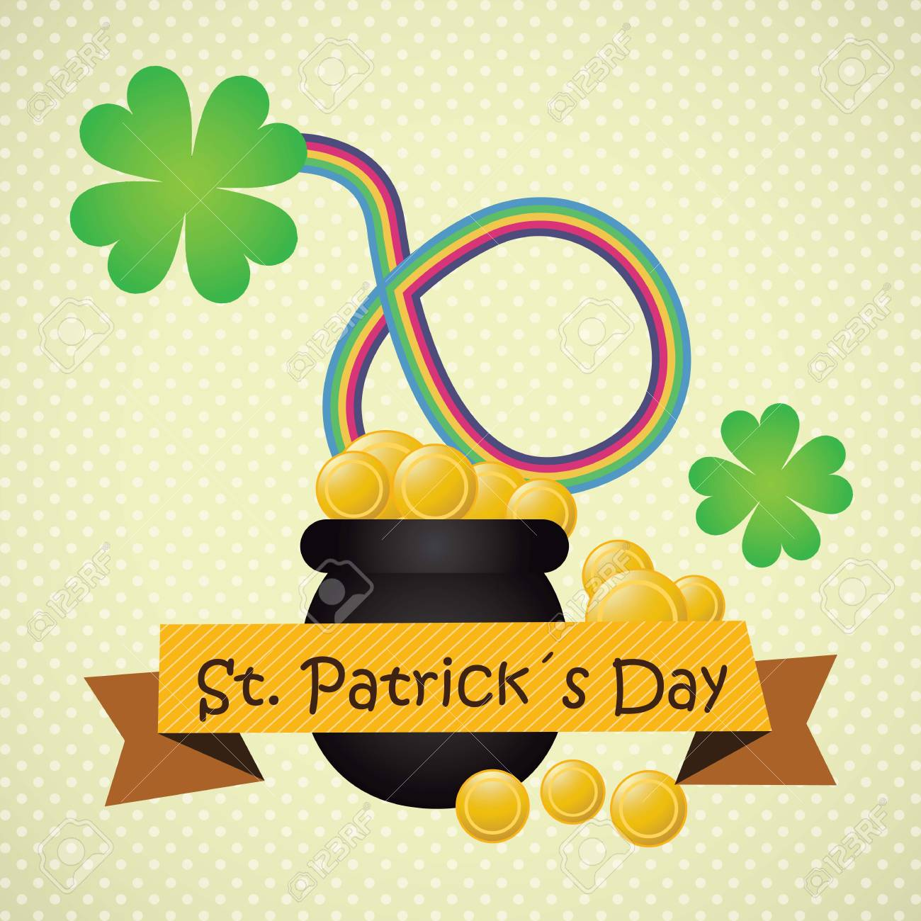 St Patrick�s Day illustration concept with rainbow. Vector Stock Vector - 17734344
