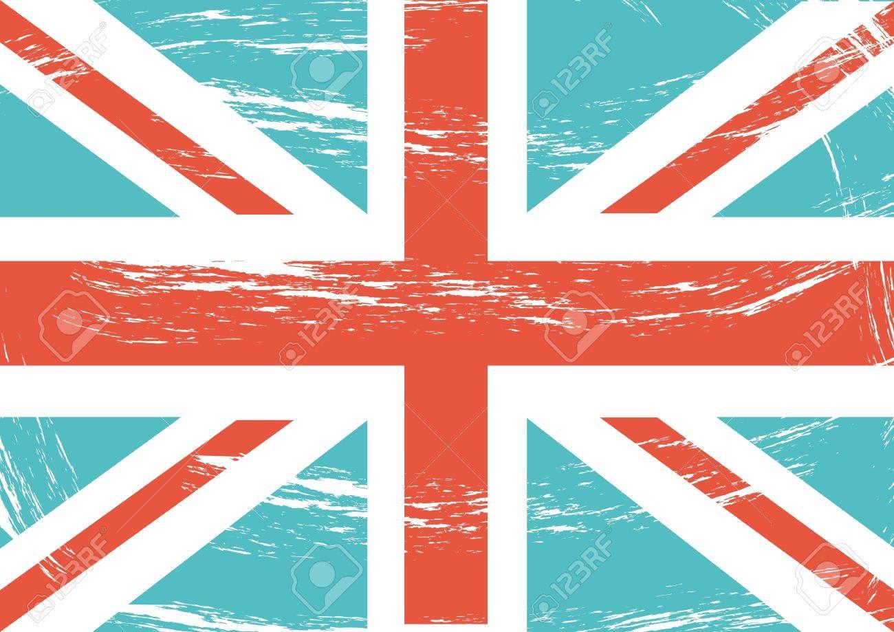 grunge flag london background, vintage. vector illustration Stock Vector - 17784442