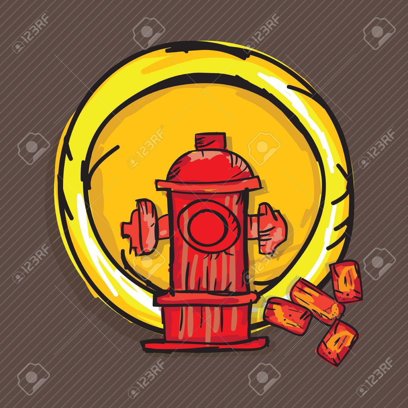 Construction Icons ( bricks, hydrant). Vector illustration Stock Vector - 17978353
