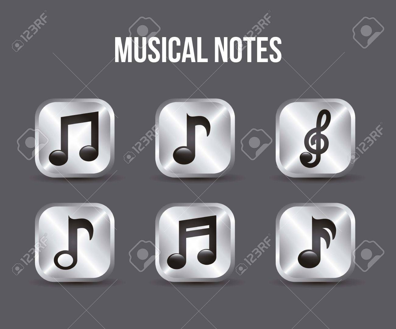 music icons buttons over gray background. vector illustration Stock Vector - 18211809