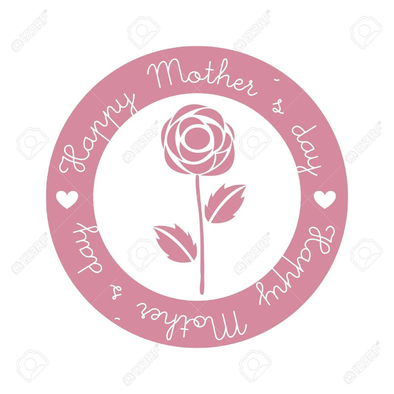 happy mothers day seal over isolated. illustration Stock Vector - 18555356