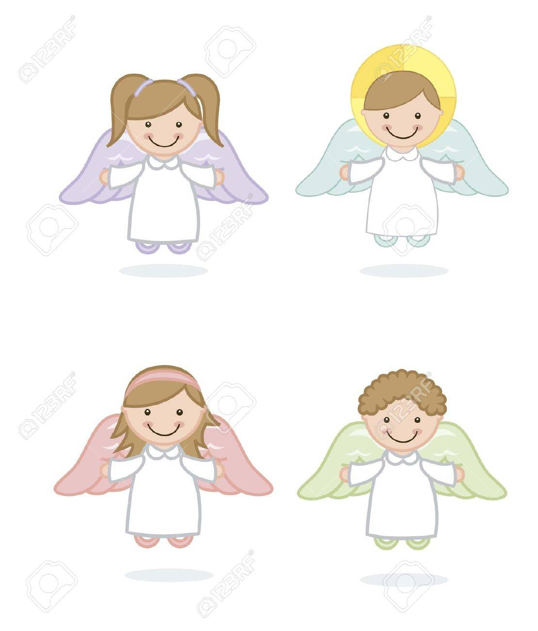 angel cartoon over white background. vector illustration Stock Vector - 18606527