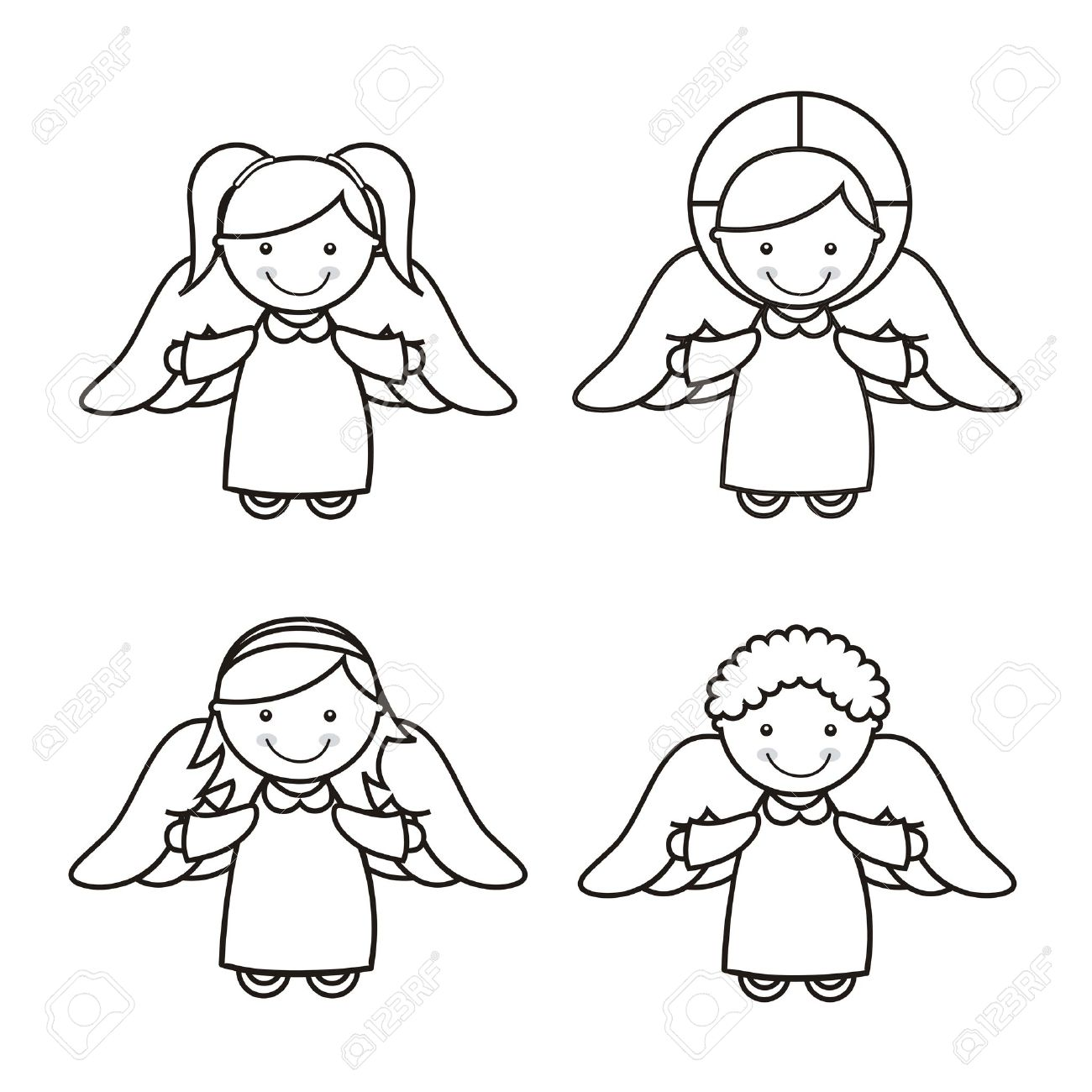 Angel Cartoon Over White Background Vector Illustration Royalty Free Cliparts Vectors And Stock Illustration Image 18606907