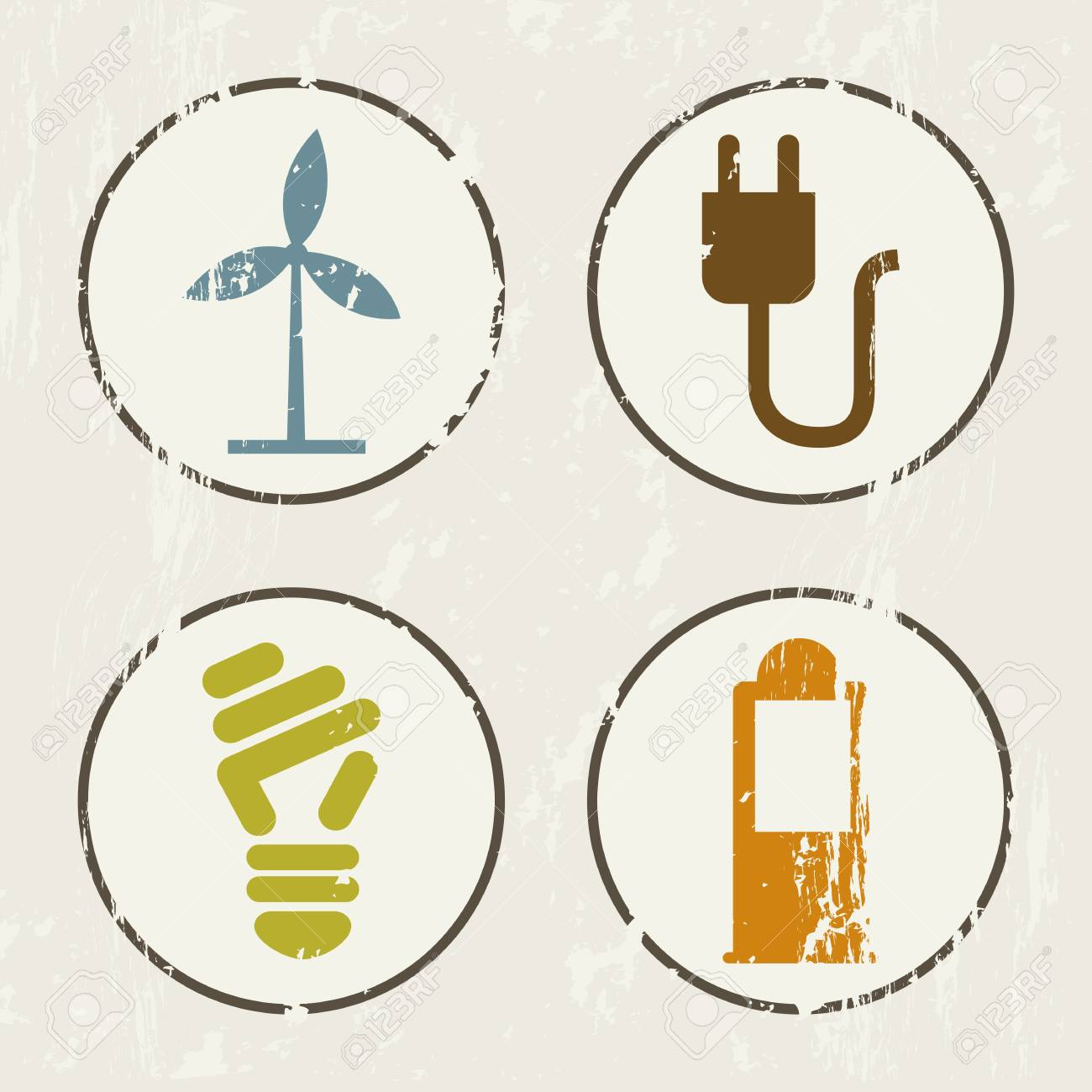 ecology icons over beige background. vector illustration Stock Vector - 18921222