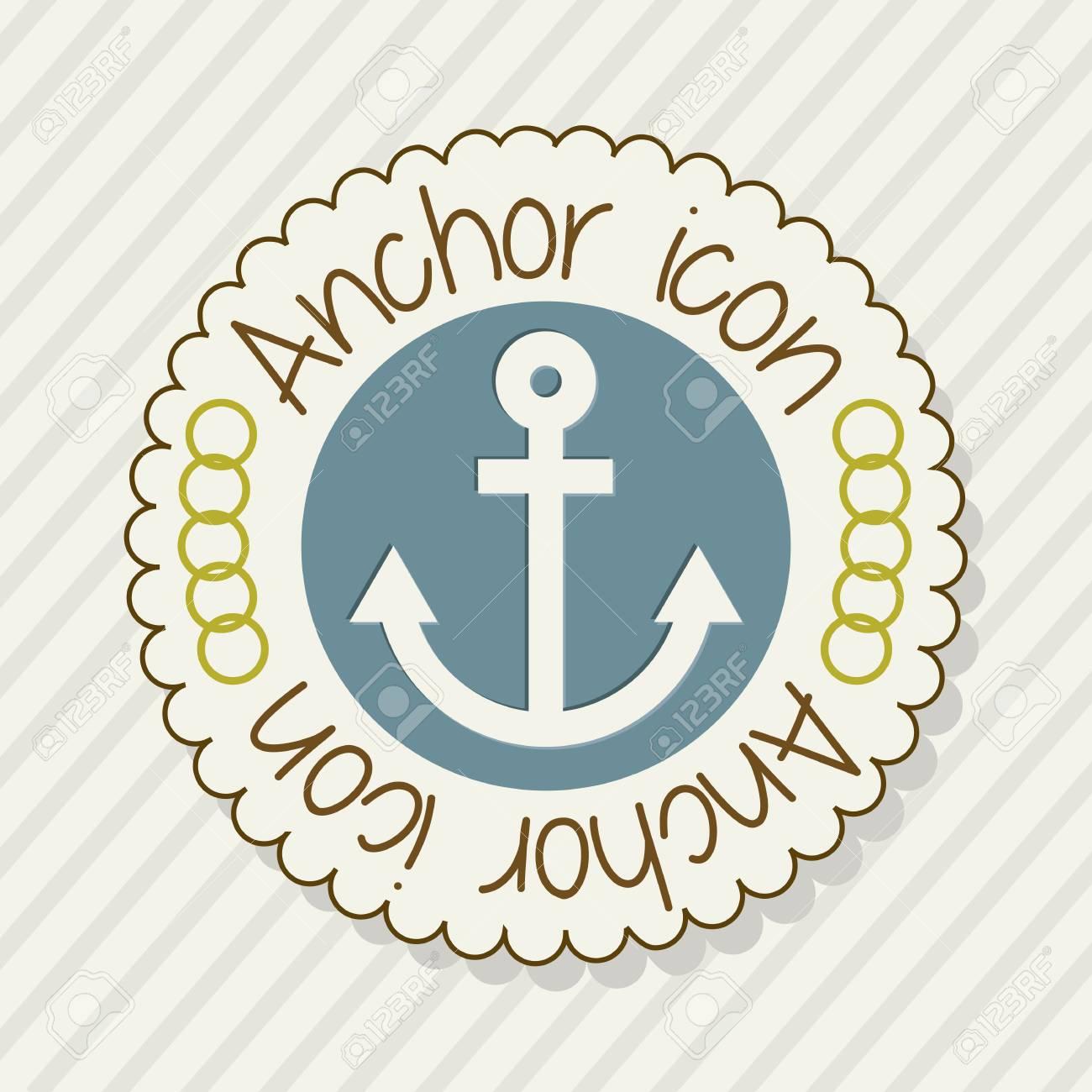 anchor label over beige background. vector illustration Stock Vector - 18920697