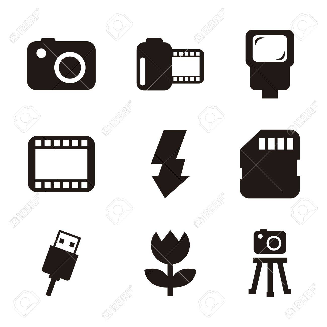 Photography Icons Over White Background. Vector Illustration ...