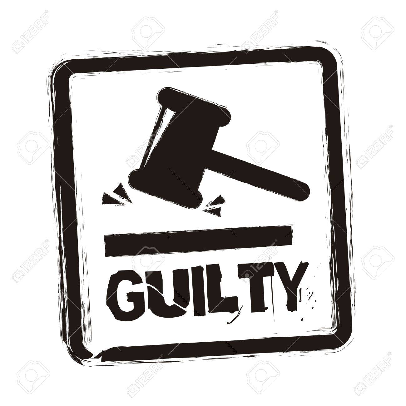 guilty seal over white background. vector illustration Stock Vector - 19033670