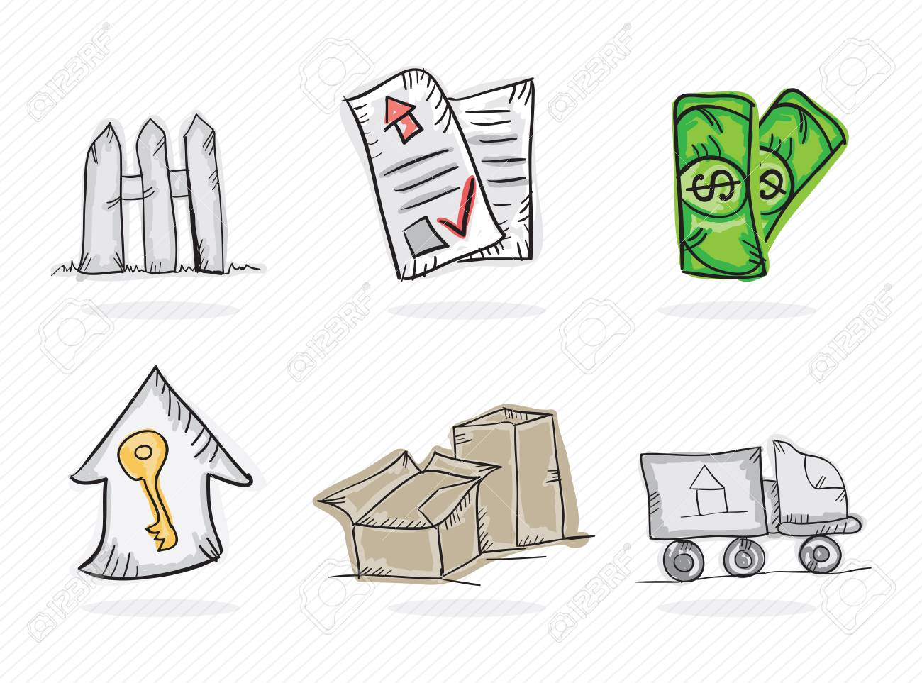 Colorful Business icons on white background, vector illustration Stock Vector - 19127241