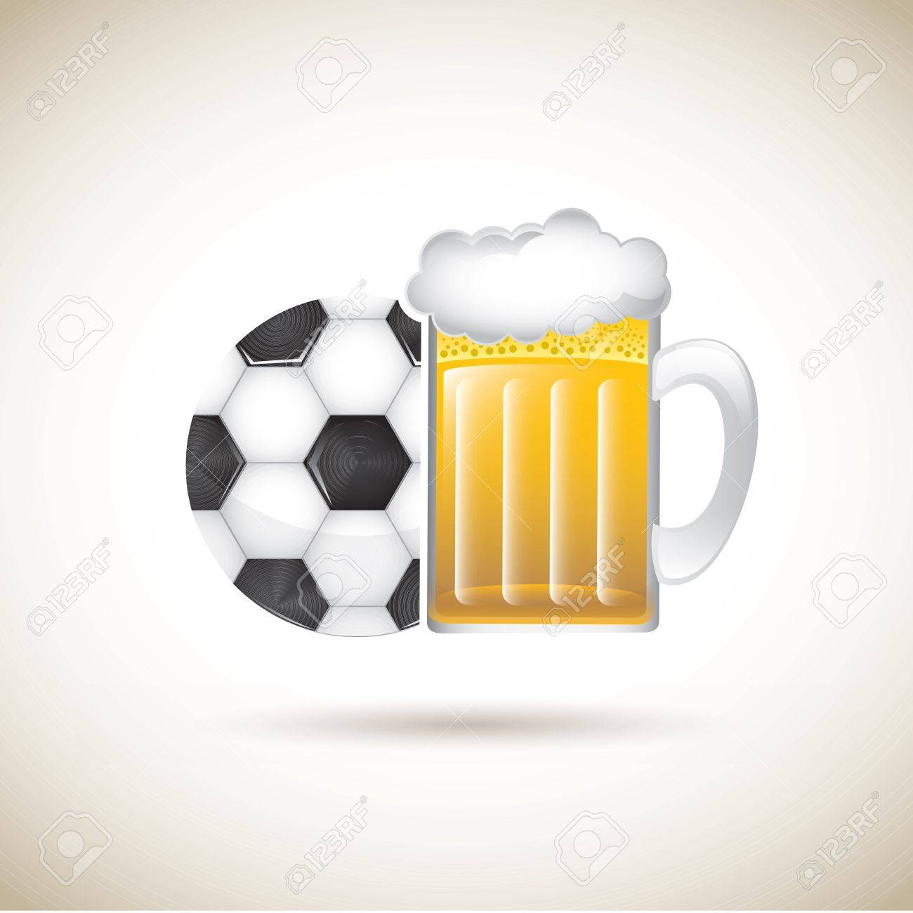 beer and sport over brown background vector illustration Stock Vector - 19179808