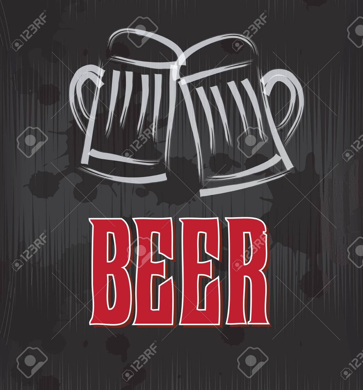 Beer label over grunge and gray background vector illustration Stock Vector - 19179894