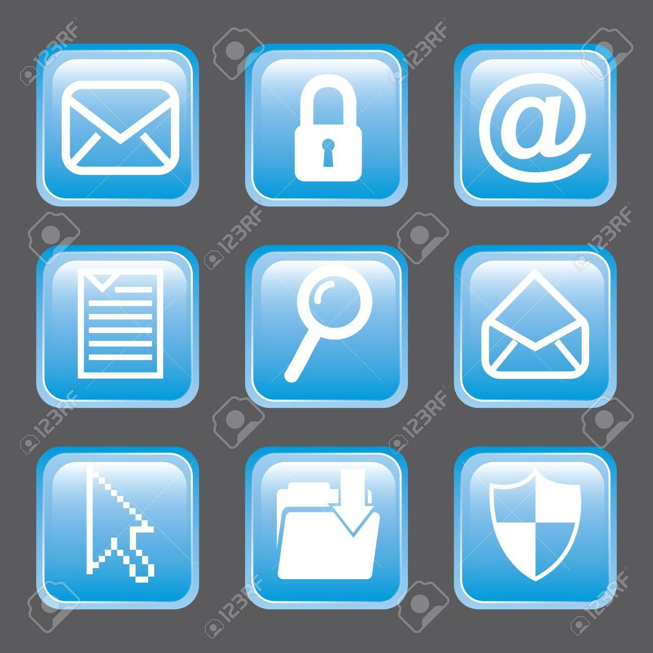 email icons over gray background. vector illustration Stock Vector - 19179871