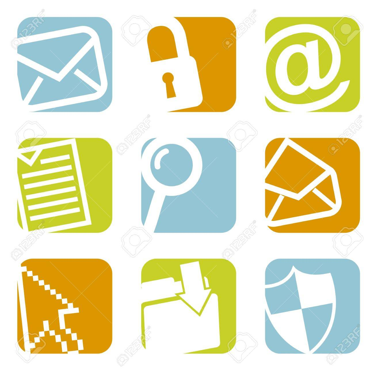 email icons over white background. vector illustration Stock Vector - 19179502