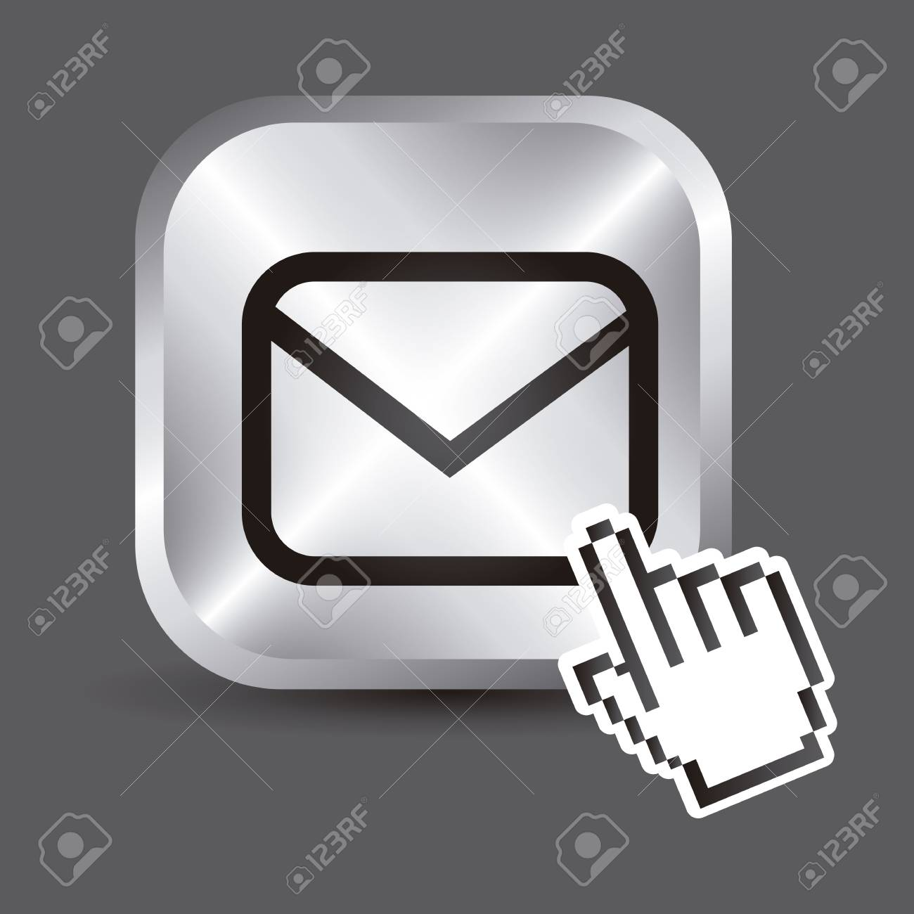 envelope icons over gray background. vector illustration Stock Vector - 19179734