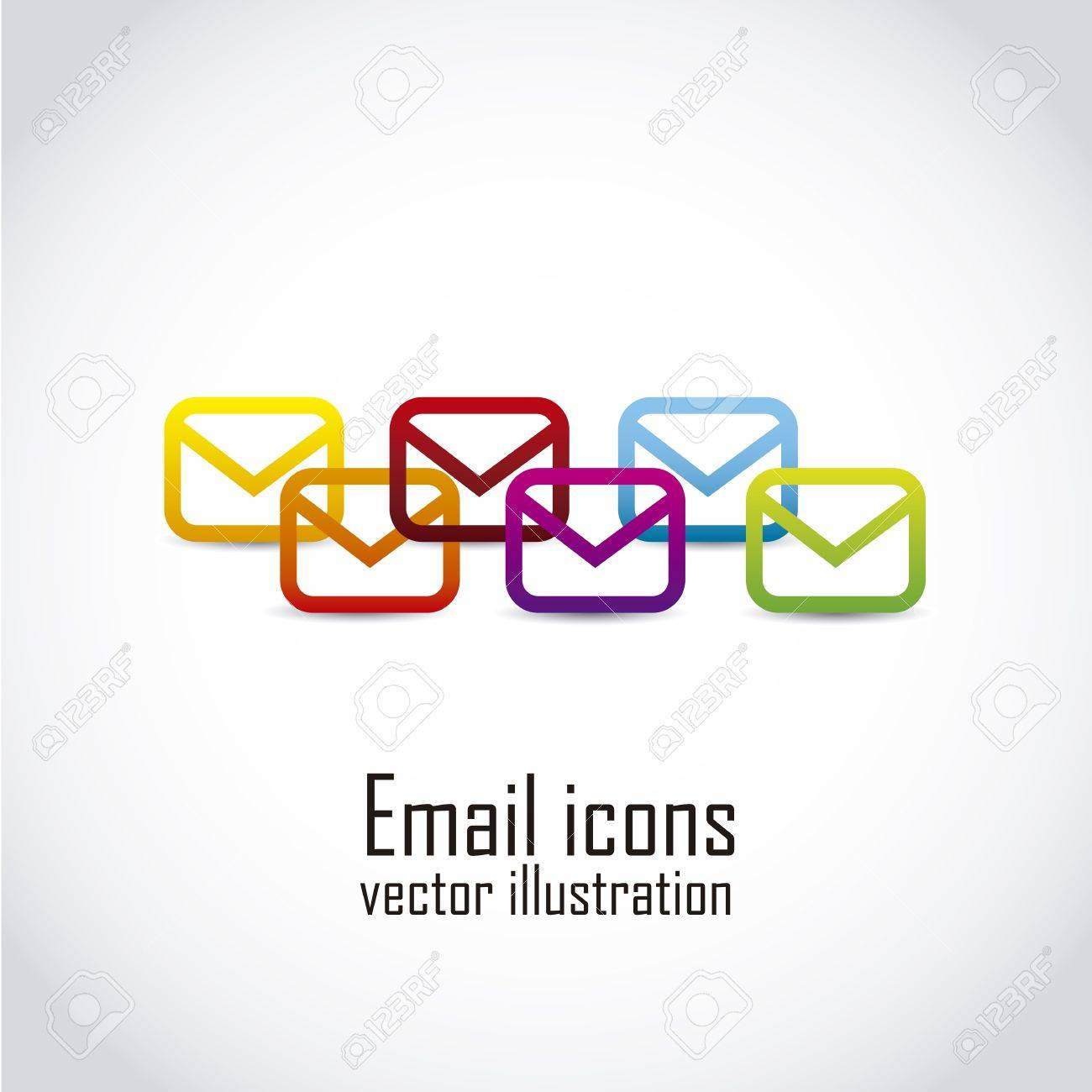email icons over white background. vector illustration Stock Vector - 19179549